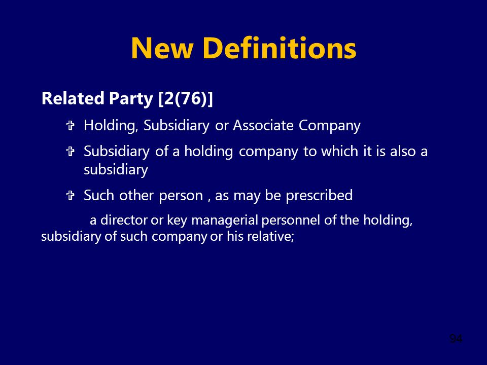New Definitions Related Party [2(76)]